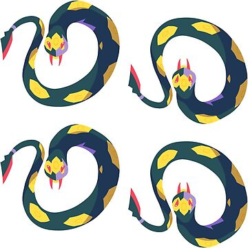 Seviper Stickers by pixielog