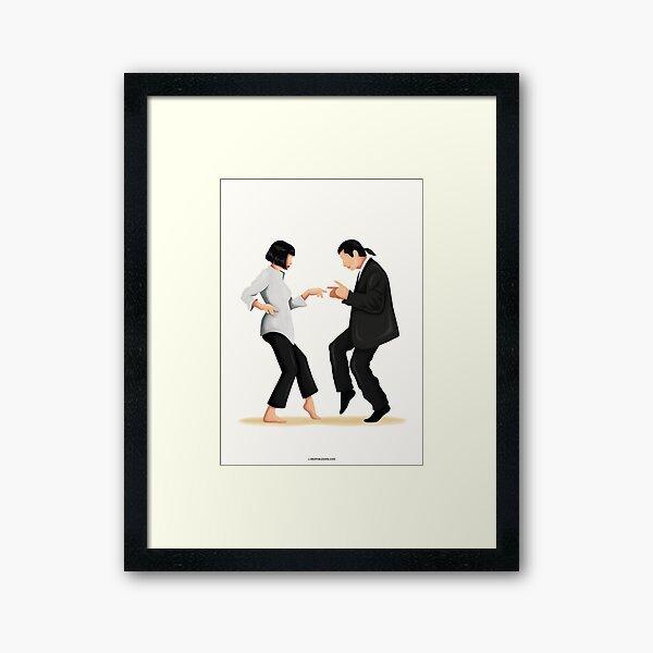 Pulp Fiction Twist Dance Music Poster, Pop Culture Iconic Print, Gift for Her, Fun Pop Art Wall Art, Dancing Gift, Film Poster, Dance Move Framed Art Print