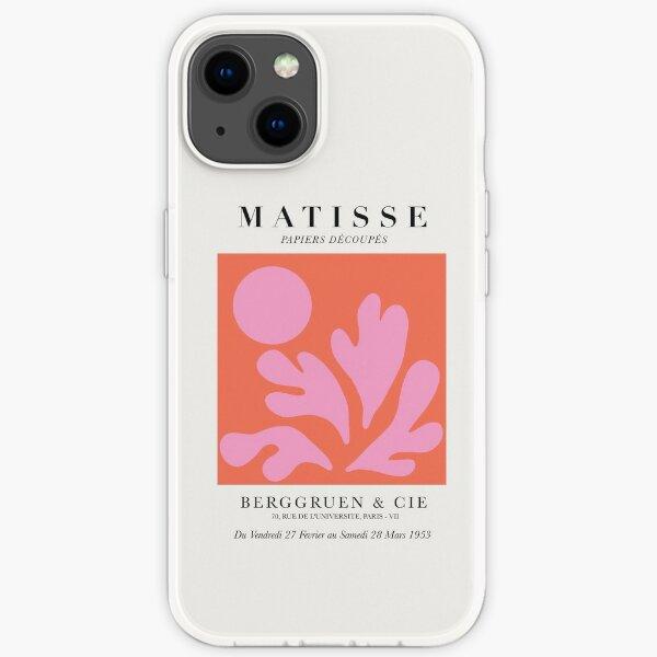Henri Matisse - Papierausschnitte in Pink und Orange iPhone Flexible Hülle