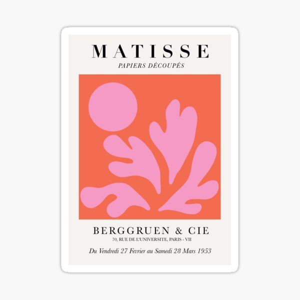 Henri Matisse - Paper Cut-Outs in Pink and Orange Sticker