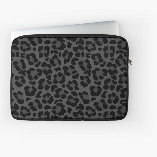 Black Leopard Print Laptop Sleeve