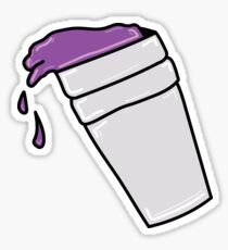 Purple Lean Cup Sticker
