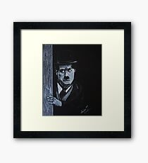 The Curious Charlie Chaplain Framed Print