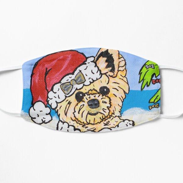 Stylin' Swifty Santa the Yorkie Flat Mask