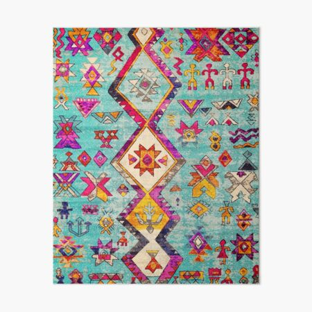 Lovely Blue Heritage Oriental Traditional Moroccan Style Art Board Print