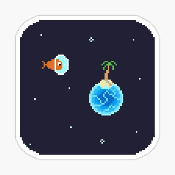 Space Explorer Fish Sticker