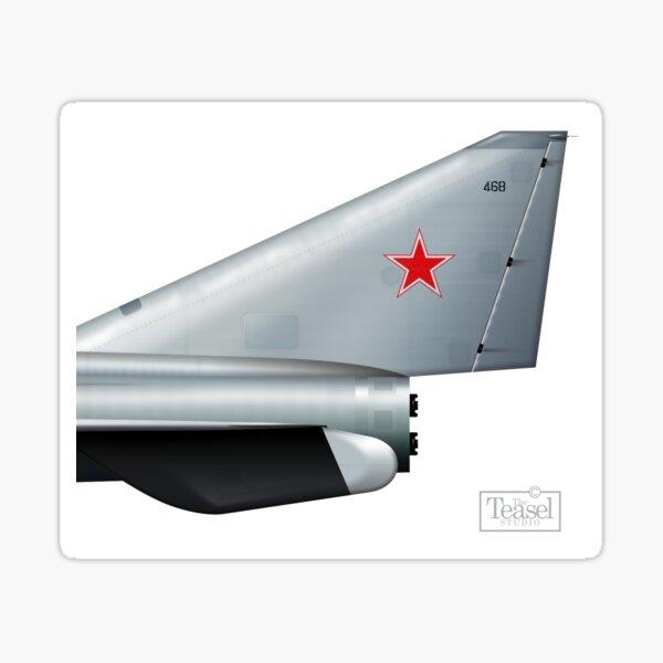 Soviet rocket fighter tail  Sticker