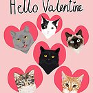 Cats valentines day cute gift for cat lady funny kitten hearts lovely pets by PetFriendly