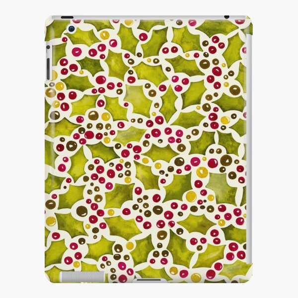 Christmas Holly and Berries iPad Snap Case