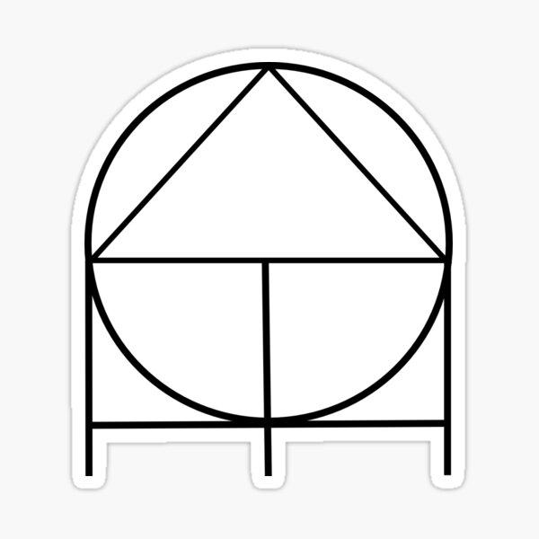 ADHD(nD) Logo Black on White Sticker