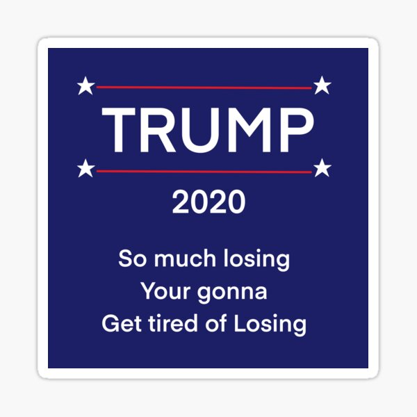 So much losing  Sticker
