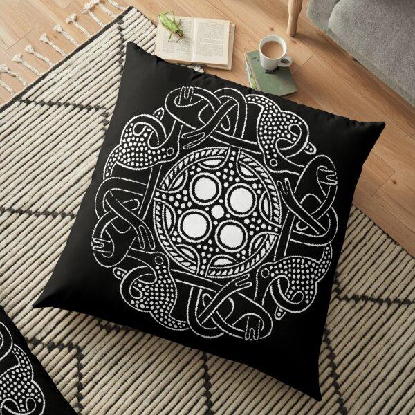 Oseberg style viking knotwork Floor Pillow