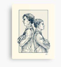 Holmes & Watson Metal Print