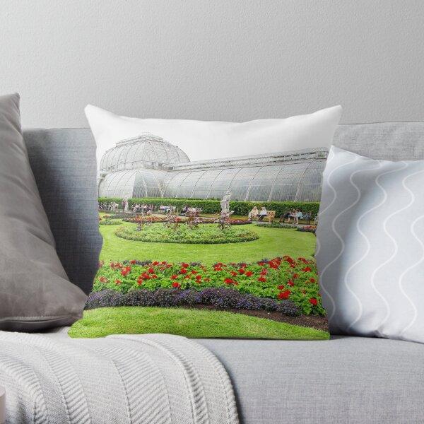 The Palm House at Kew Royal Botanic Gardens London Throw Pillow