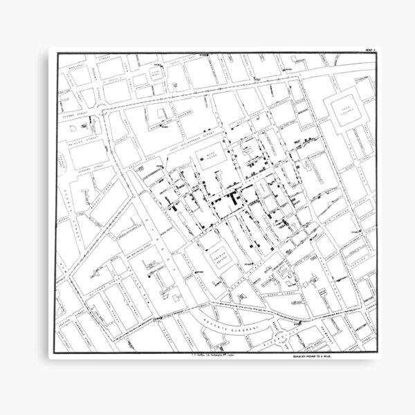 John Snow's Cholera Map Canvas Print