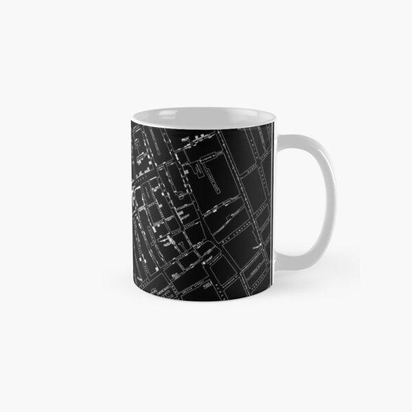John Snow's Cholera Map (white-on-black) Classic Mug