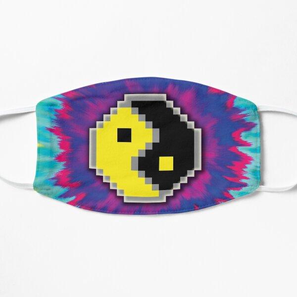 colorful 8-bit yin yang Flat Mask