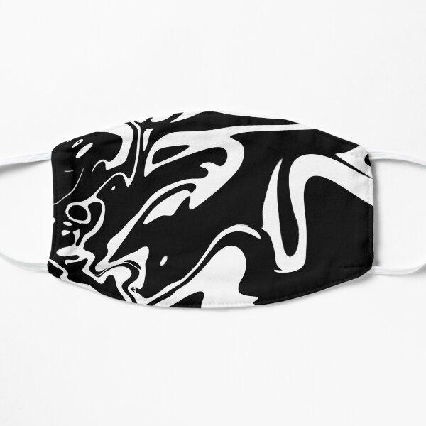 Black and White Oil Spill Flat Mask