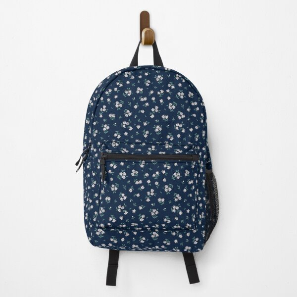 Dainty Daisies on Navy Backpack