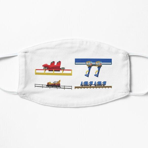 Conception de voitures de montagnes russes Parc Astérix Masque sans plis
