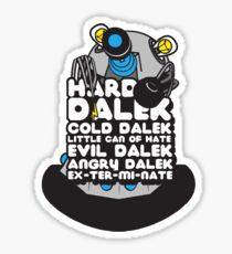Hard Dalek Cold Dalek New Design (Grey/Blue) Sticker