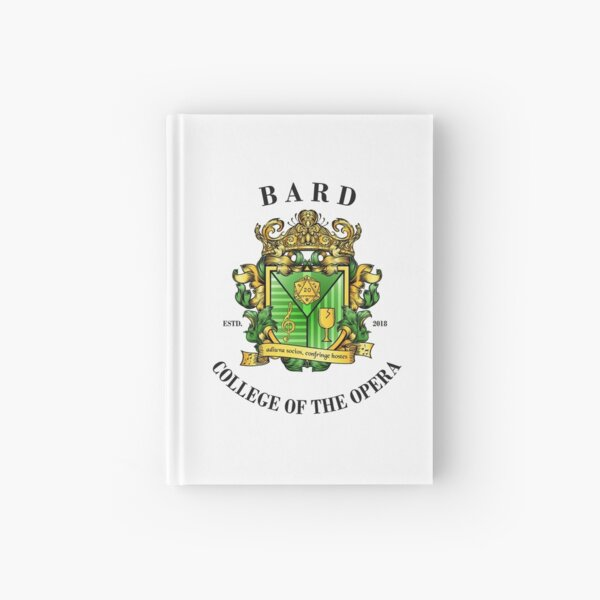 College of the Opera Crest - Latin, Black Text Hardcover Journal