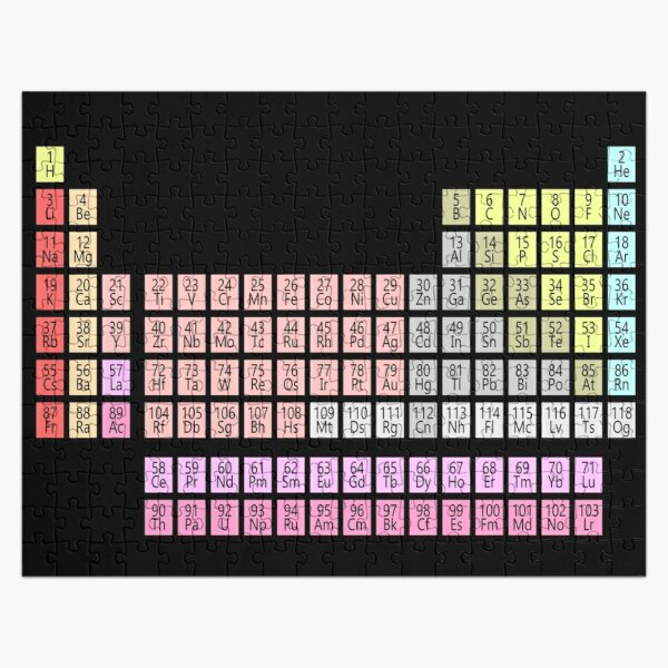 Chemistry Science: Periodic Table of Elements Jigsaw Puzzle