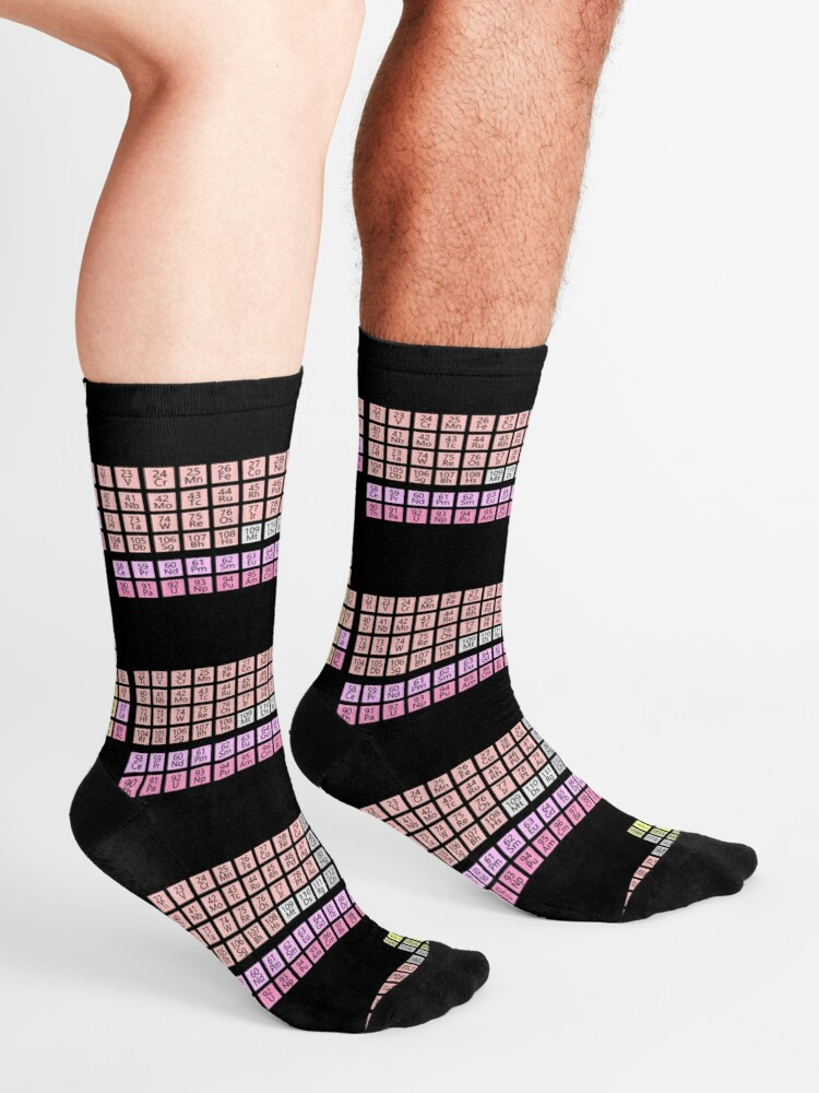 Alternate view of Chemistry Science: Periodic Table of Elements Socks