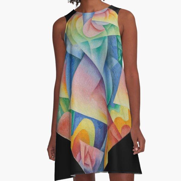 Dancer = Propeller = Sea, 1915, Gino Severini, Italian, Oil on canvas A-Line Dress