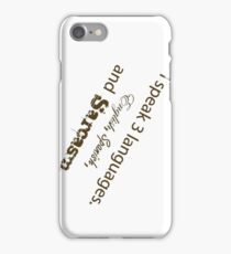 Languages Sarcasm iPhone Case/Skin