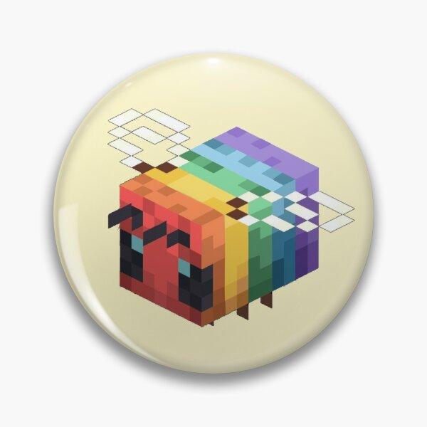lgbtq+ minecraft bee Pin