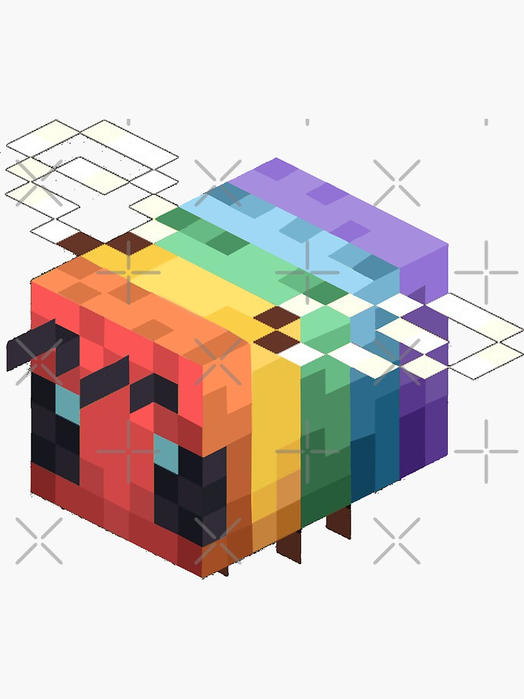 lgbtq+ minecraft bee by Oreo-Cookie-22