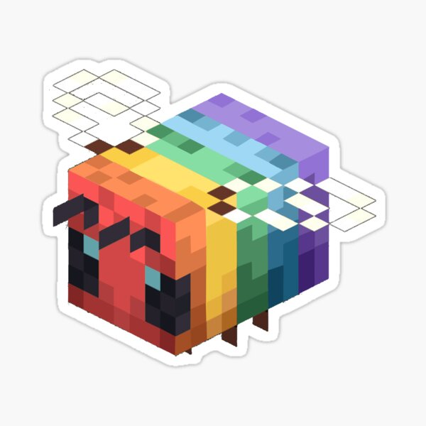lgbtq+ minecraft bee Sticker