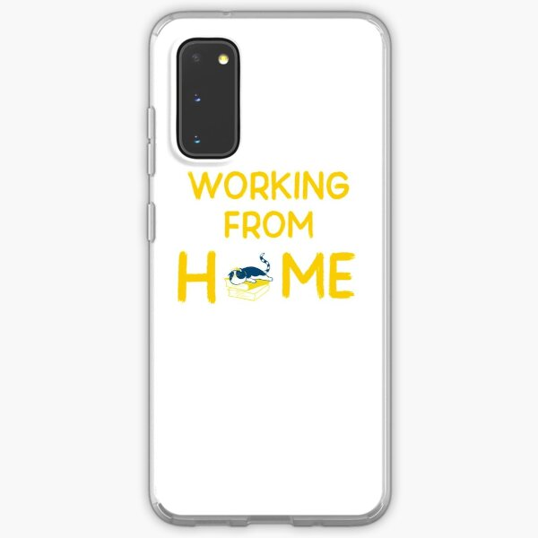 working from home Samsung Galaxy Soft Case