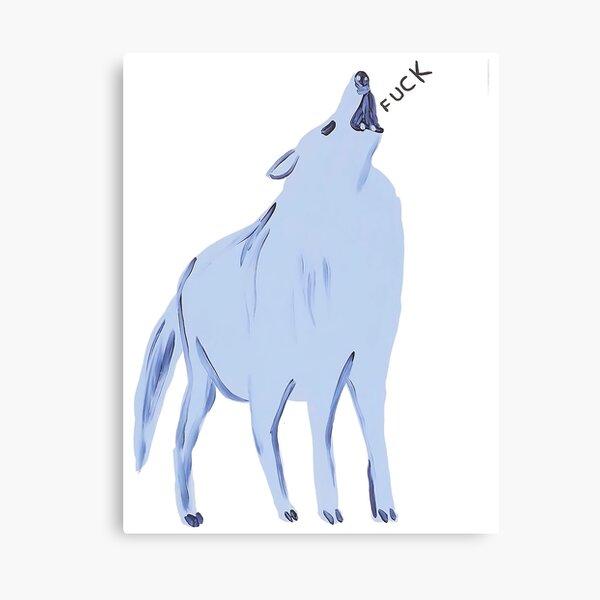 Blue Wolf Fuck Canvas Print