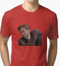 Fox Mulder [paranoia intensifies] Tri-blend T-Shirt