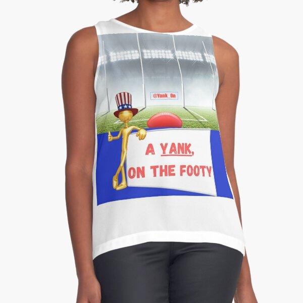 A Yank on the Footy Podcast Logo Sleeveless Top