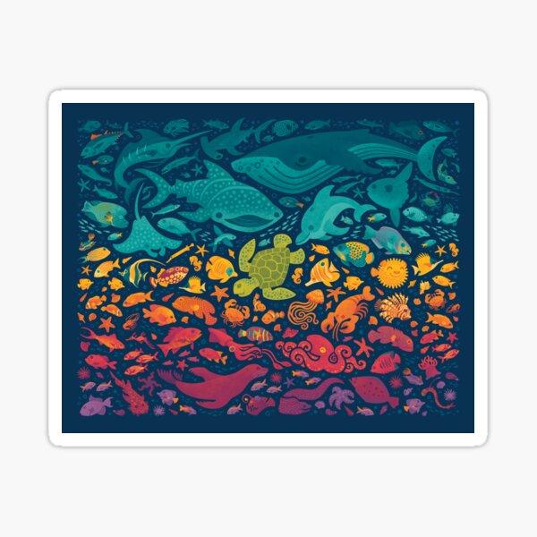 Aquatic Spectrum 2 Sticker