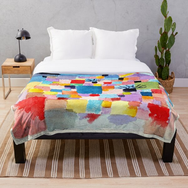 Paul Klee Southern Gardens | Klee inspired Fine Art w/Signature Throw Blanket