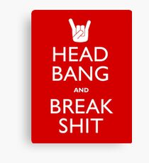 Head Bang Canvas Print