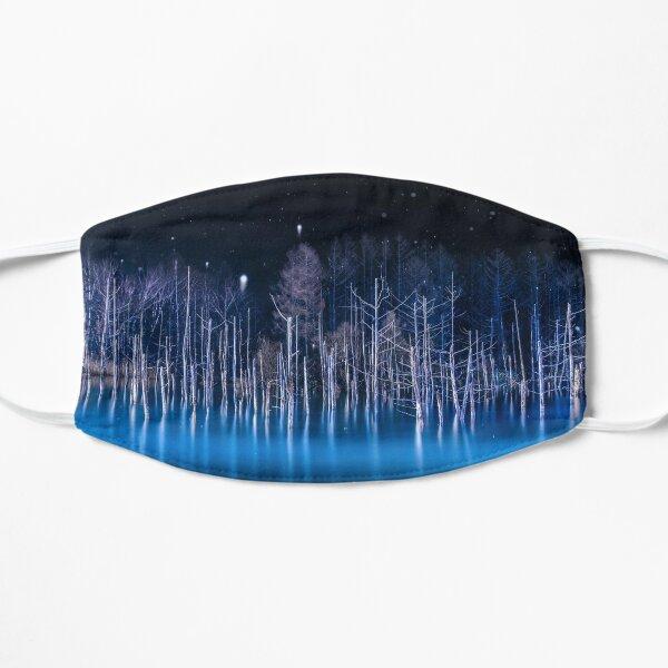 Blue Lake at Night Flat Mask