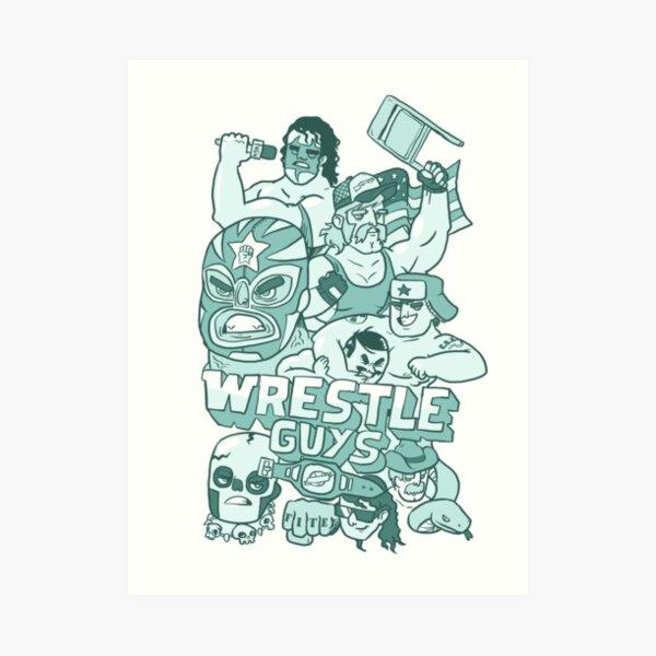 Wrestle Guys Art Print