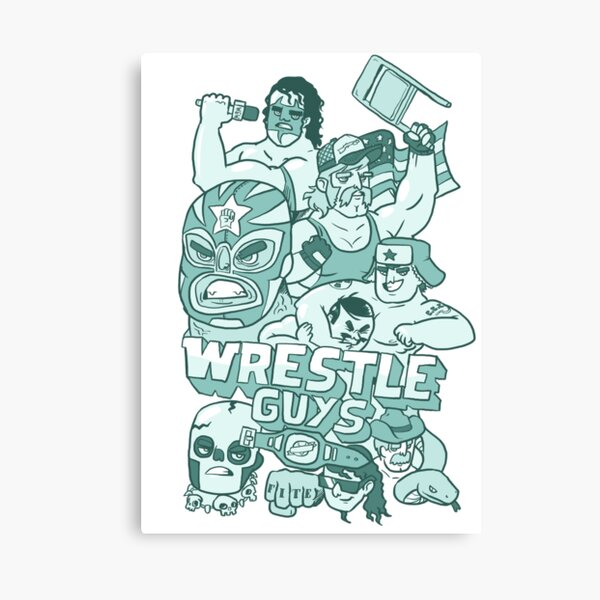 Wrestle Guys Canvas Print