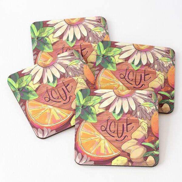Tea Love Coasters (Set of 4)