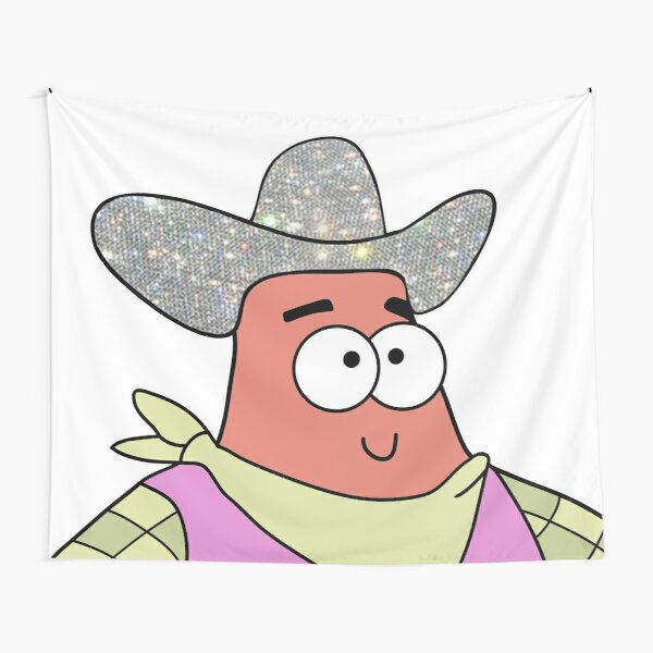 Yeehaw Cowboy Patrick Star  Tapestry