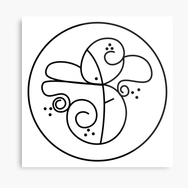 Unlock the unconscious Sigil Metal Print
