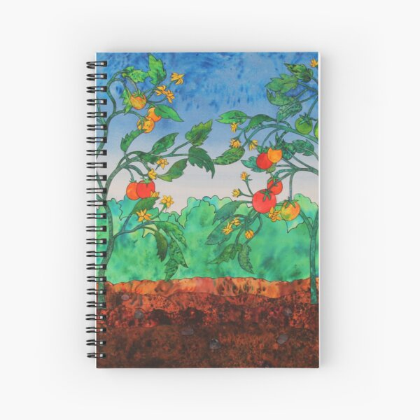 Summertime Tomatoes Spiral Notebook