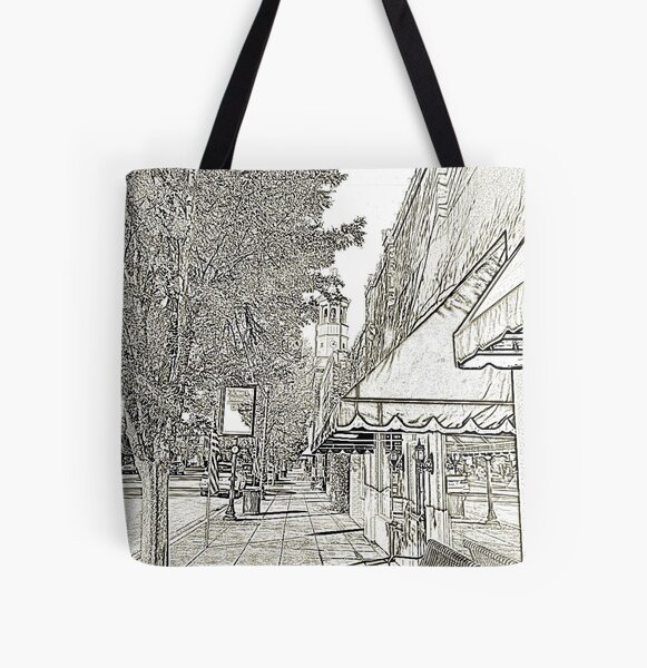 On Broad Street, Camden SC All Over Print Tote Bag