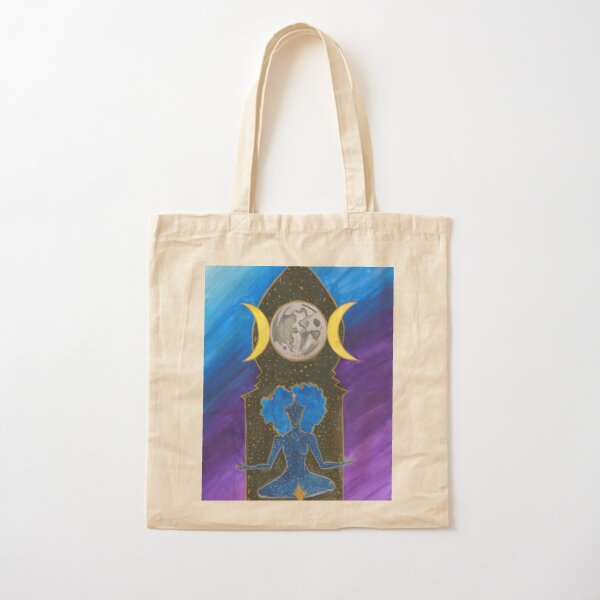 The High Priestess, Astral Reflections Tarot Cotton Tote Bag