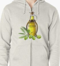 Extroversion Olive Oil Zipped Hoodie
